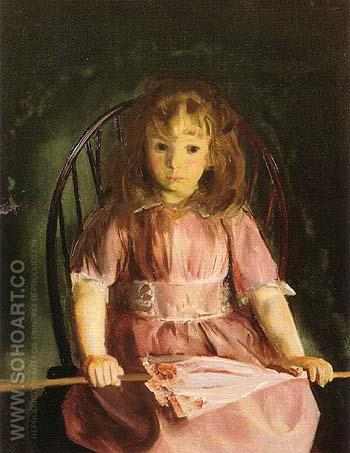 Jean in a Pink Dress 1921 - George Bellows reproduction oil painting