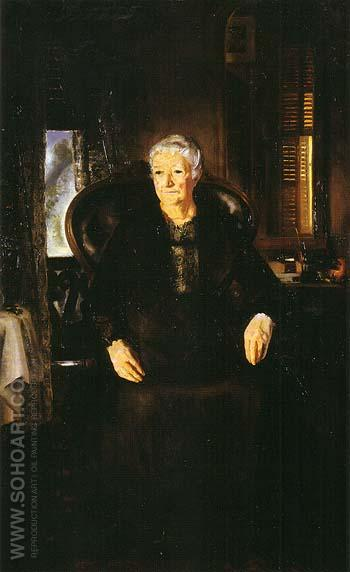 Portrait of My Mother No 1 1921 - George Bellows reproduction oil painting