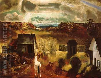 The White Horse 1922 - George Bellows reproduction oil painting