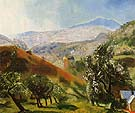 Mountain Orchard 1922 - George Bellows reproduction oil painting
