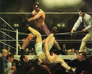 Dempsey and Firpo 1924 - George Bellows reproduction oil painting
