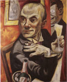 Self Portrait with Champagne Glass 1919 - Max Beckman
