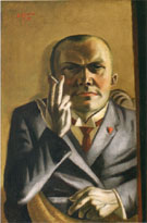 Self Portrait on Yellow Ground with Cigarette 1923 - Max Beckman