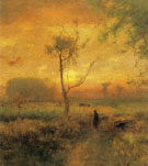 Sunrise detail 1887 - George Inness reproduction oil painting