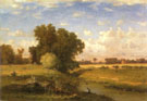 Hackensack Meadows Sunset 1859 - George Inness reproduction oil painting