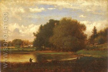 Landscape 1860 - George Inness reproduction oil painting
