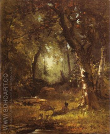 The Huntsman 1859 - George Inness reproduction oil painting
