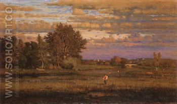 Clearing up 1860 - George Inness reproduction oil painting