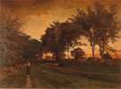 Evening Landscape 1862 - George Inness reproduction oil painting