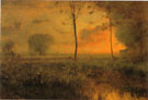 Sunset at Montclair 1892 - George Inness reproduction oil painting