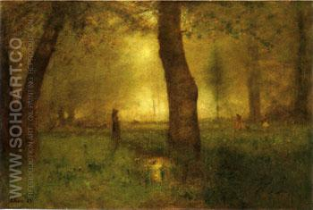 The Trout Brook 1891 - George Inness reproduction oil painting
