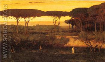 The Monk 1873 - George Inness reproduction oil painting
