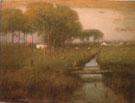 Early Moonrise Tarpon Springs 1892 - George Inness reproduction oil painting