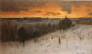 Winter Evening 1887 - George Inness reproduction oil painting