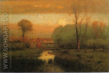 Autumn Gold 1888 - George Inness reproduction oil painting
