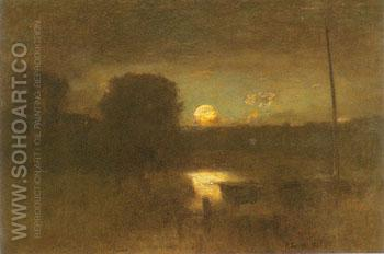 Moonrise 1888 - George Inness reproduction oil painting