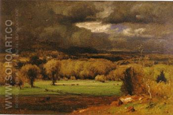 The Coming Storm 1878 - George Inness reproduction oil painting