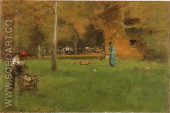 The Old Barn 1888 - George Inness reproduction oil painting