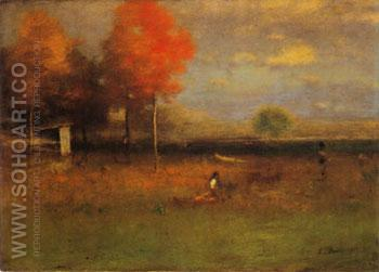 Indian Summer 1894 - George Inness reproduction oil painting