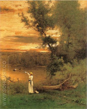 Shades of Evening 1877 - George Inness reproduction oil painting