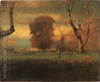 Landscape 1888 - George Inness reproduction oil painting