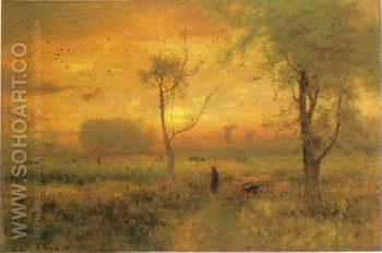 Sunrise 1887 - George Inness reproduction oil painting