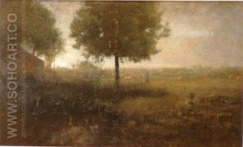 Hazy Morning Montclair 1893 - George Inness reproduction oil painting