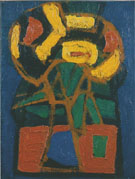 Cobra Composition 1948 - Karel Appel reproduction oil painting
