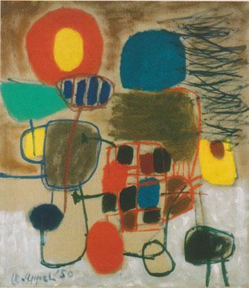 Feast 1950 - Karel Appel reproduction oil painting