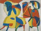 Horse and Flute Player 1951 - Karel Appel
