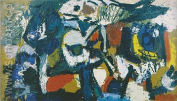 Monde Fleural 1954 - Karel Appel reproduction oil painting