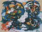 Composition 1957 - Karel Appel reproduction oil painting