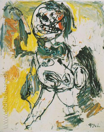 Nude Series Nude 1963 - Karel Appel reproduction oil painting