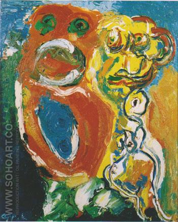 Couple 1965 - Karel Appel reproduction oil painting