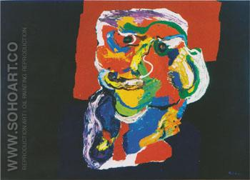 Personage III 1968 - Karel Appel reproduction oil painting