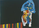 Night Walk  1968 - Karel Appel reproduction oil painting