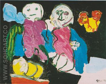 The Potato People 1974 - Karel Appel reproduction oil painting