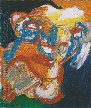 Composition No 3 1974 - Karel Appel reproduction oil painting