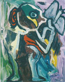 Person with Butterfly 1982 - Karel Appel reproduction oil painting