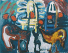 Tropical Street 1985 - Karel Appel reproduction oil painting