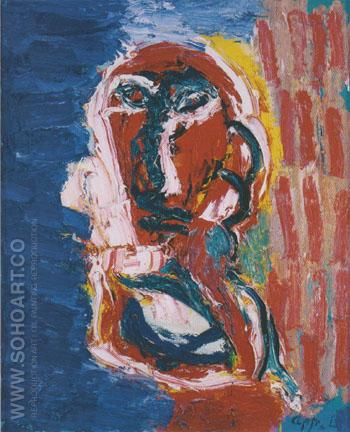 Personage 1991 - Karel Appel reproduction oil painting