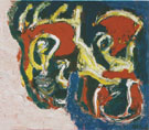 Two Heads 1 1991 - Karel Appel reproduction oil painting