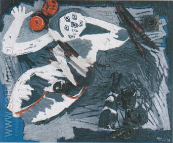The Gladiator 1993 - Karel Appel reproduction oil painting