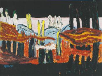 Horizon of Tuscany 24 1995 - Karel Appel reproduction oil painting