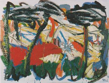 Horizon of Tuscany 36 1995 - Karel Appel reproduction oil painting