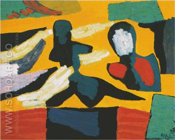 Figures without Faces 1997 - Karel Appel reproduction oil painting