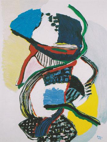 Skilful Acrobat 2000 - Karel Appel reproduction oil painting