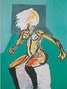 Macho Woman 2000 - Karel Appel reproduction oil painting