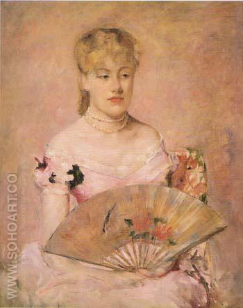 Lady with a Fan 1880 - Mary Cassatt reproduction oil painting