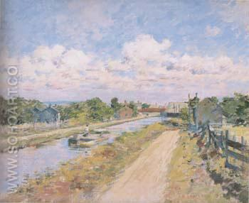 On The Canal 1893 - Theodore Robinson reproduction oil painting